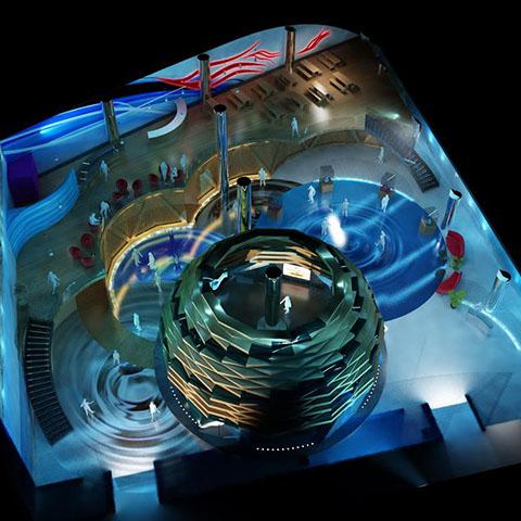 جناح تركيا بمعرض اكسبو2012 بمدينة يوسو الكورية الجنوبية