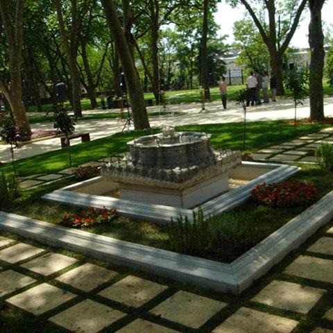 トプカプ宮殿1.中庭の造園アレンジメント プロジェクト